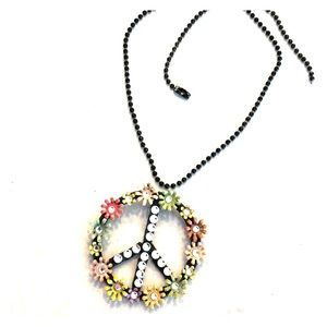 Jewelry - Floral Peace pendant on ball chain